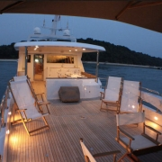 SuperYacht Boat Charter Singapore exterior deck
